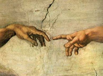 God man hands