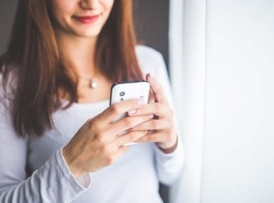 OMG. Woman Texting