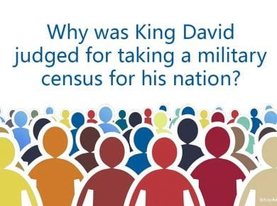David Judged for taking a census