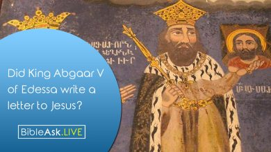 Did King Abgaar V of Edessa write a letter to Jesus