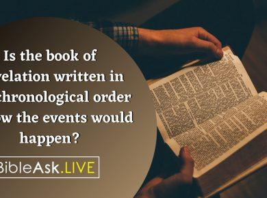 Revelation Chronological Order
