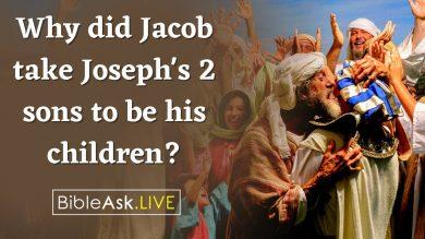 jacob take joseph's sons
